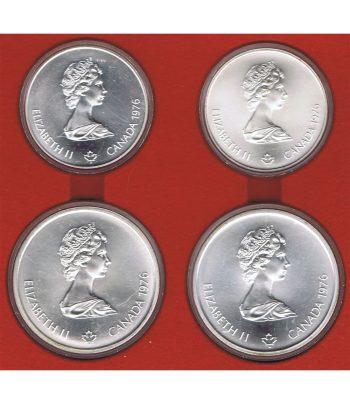 Monedas de plata de Canada Olimpiada Montreal 1976. 4 monedas  - 2