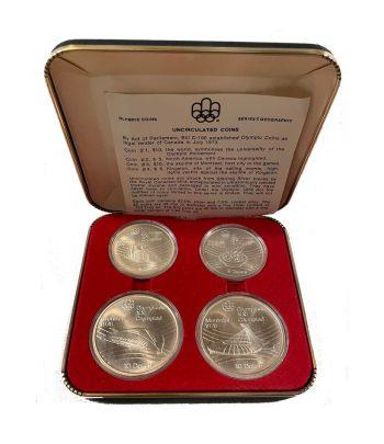 Monedas de plata de Canada Olimpiada Montreal 1976. 4 monedas  - 3