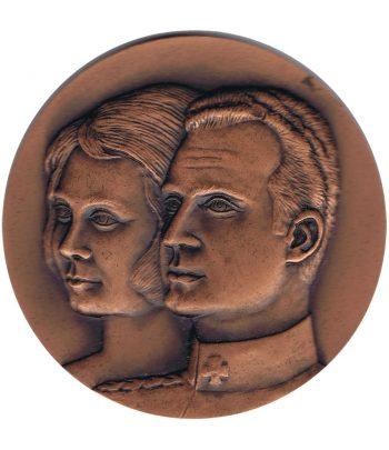 Medalla de bronce Primera visita Reyes de España a Catalunya 1976  - 1