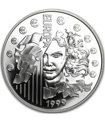 Moneda de plata de Francia 6.55957 Francos Europa año 1999 con estuche  - 1