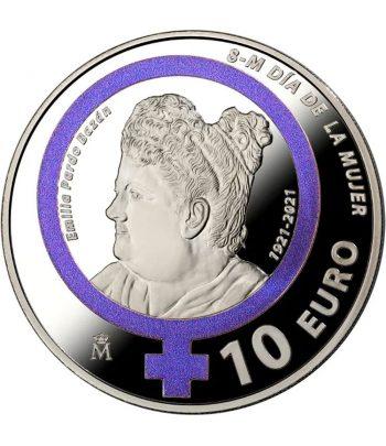 Moneda de España año 2021 Día Internacional de la Mujer. 10 euros Plata  - 1