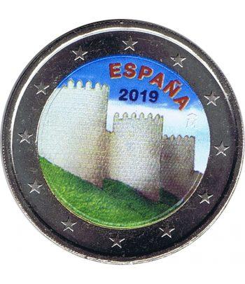 moneda conmemorativa 2 euros España 2019 Ávila. Color B  - 2