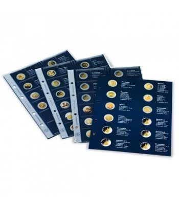 LEUCHTTURM Suplemento 2020 álbum OPTIMA Preimpreso 2 euros Album Monedas Euro - 2