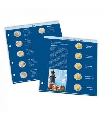 LEUCHTTURM Numis hojas preimpresas monedas de 2 Euros 2020 Album Monedas Euro - 2