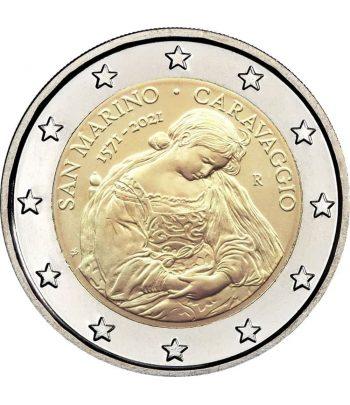 moneda 2 euros San Marino 2021 dedicada a Caravaggio.  - 1