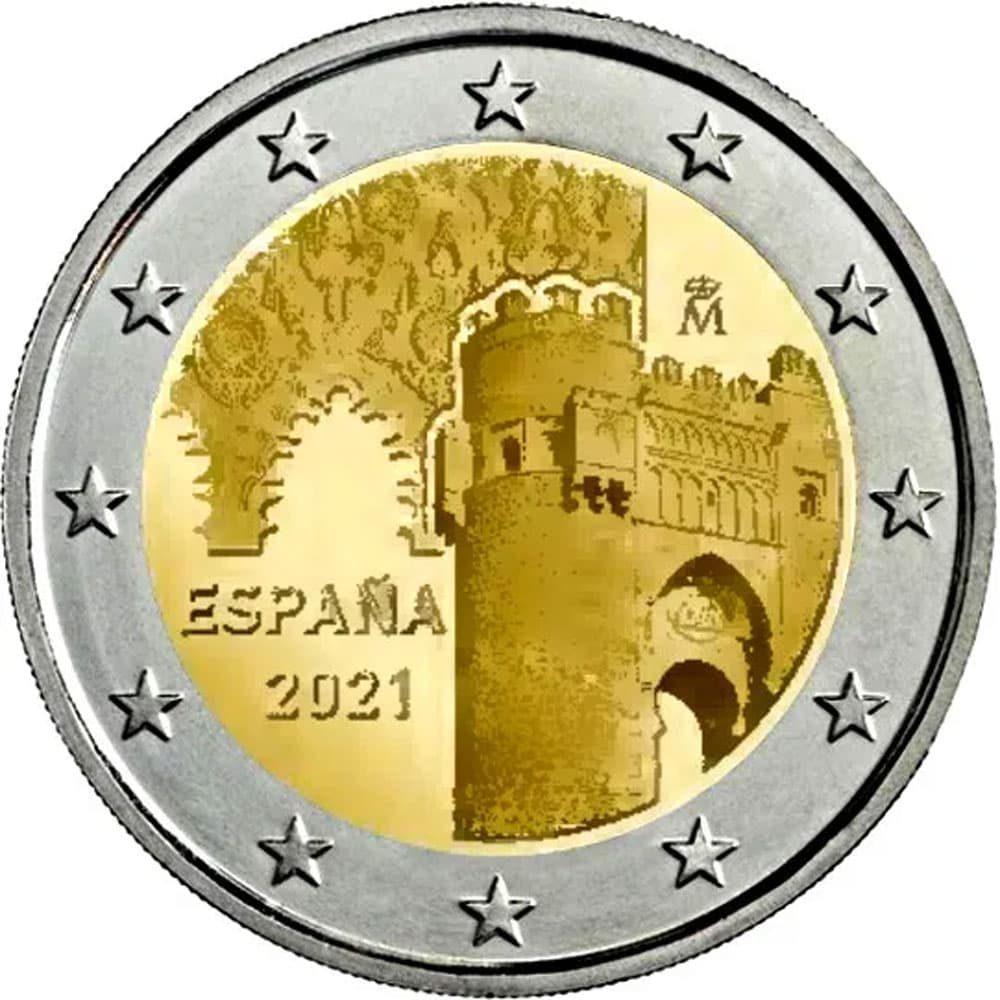moneda 2 euros España 2021 dedicada a Toledo  - 1