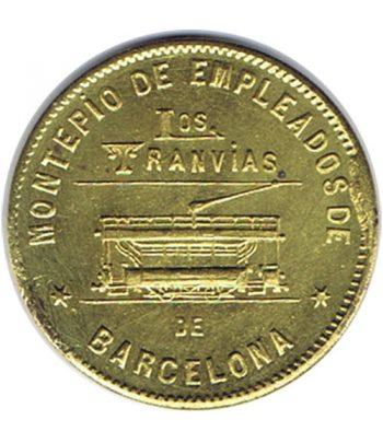 Moneda 10 céntimos Montepio Tranvias de Barcelona 1916  - 1