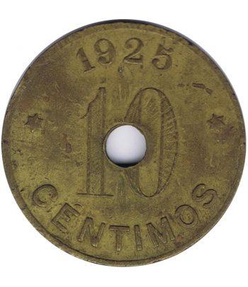 Moneda 10 céntimos Sant Feliu de Guixols 1925 con agujero  - 1