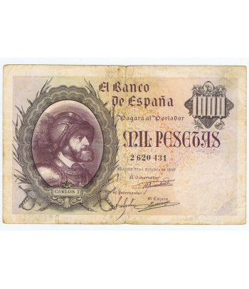 Billete de España 1940/10/21. 1000 Pesetas MBC. Serie 2620431  - 1