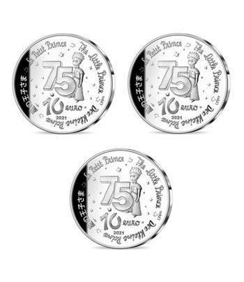 Monedas 10 euros de plata Francia año 2021. 75 Aniversario Principito  - 2