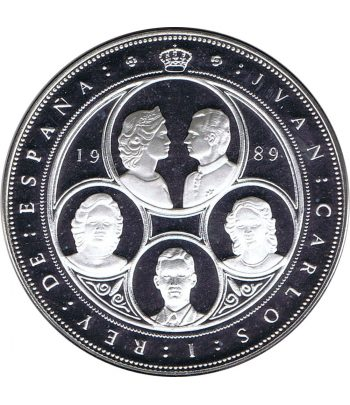 Moneda de plata España 10.000 pesetas 1989. Cincuentín  - 1