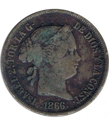 Moneda de España Isabel II 40 Centimos de Escudo de 1866 ceca Madrid.  - 1