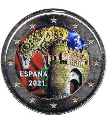 moneda 2 euros España 2021 dedicada a Toledo. Color A  - 1