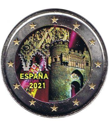 moneda 2 euros España 2021 dedicada a Toledo. Color B  - 1