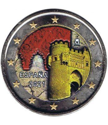 moneda 2 euros España 2021 dedicada a Toledo. Color C  - 1