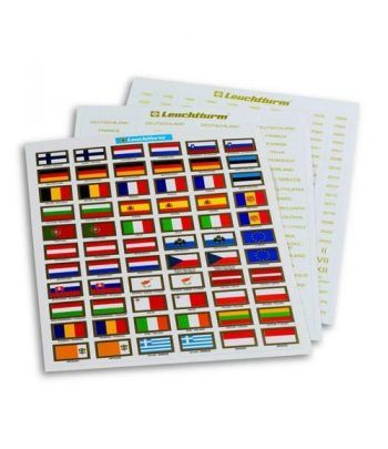 LEUCHTTURM VISTA Etiquetas Euro (Europa 3). Album Monedas Euro - 2