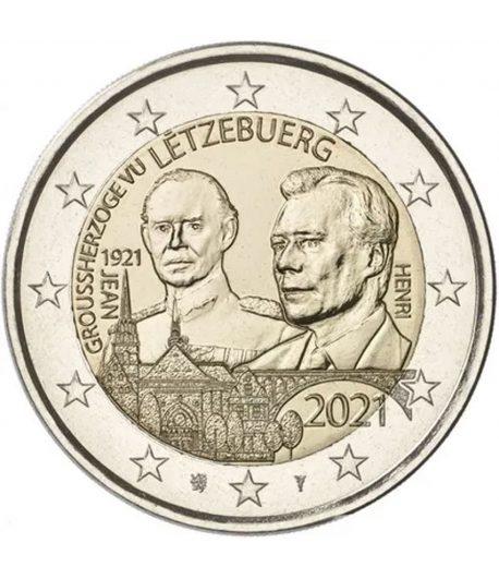 moneda 2 euros Luxemburgo 2021 dedicada al Duque Jean.  - 1