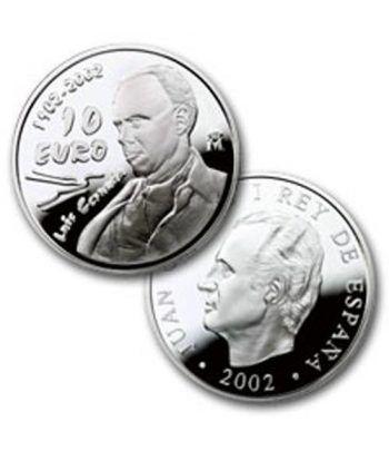 Moneda 2002 Luis Cernuda. 10 euros. Plata.  - 2