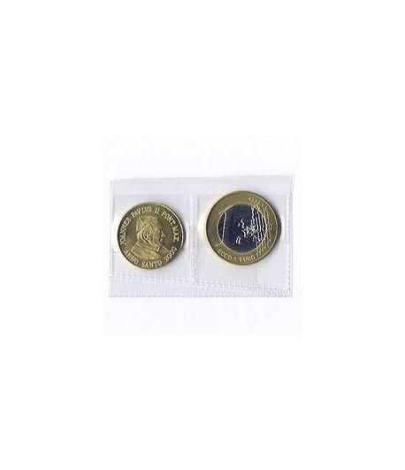 Serie Euro prueba Vaticano (50 centimos y 1 Euro)  - 2