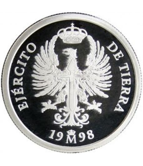 Moneda de plata de España 1 euro Ejercito de tierra 1998  - 1