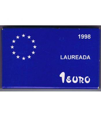 Moneda de plata de España 1 euro Ejercito de tierra 1998  - 3
