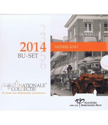 Cartera oficial euroset Holanda 2014 . Nuevas monedas.  - 1