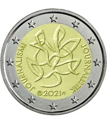 moneda de Finlandia 2 euros 2021 dedicada a la Libertad de Prensa  - 1