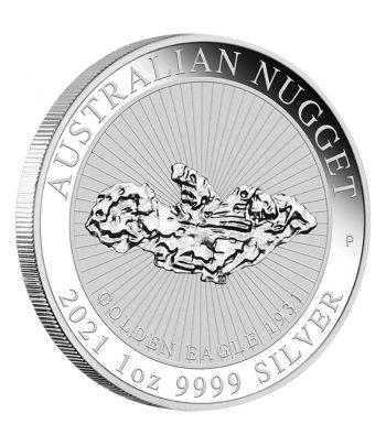 Onza de plata de Australia 1$ Nugget año 2021  - 1