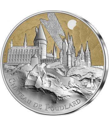 Moneda 50 euros de plata Francia año 2021 Castillo de Poudlard Harry Potter  - 1
