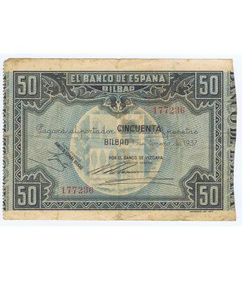 Billete de 50 Pesetas Bilbao 1 de enero de 1937 serie 177236  - 1