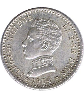 Moneda de España 50 Céntimos de Plata 1904 *04 Alfonso XIII SM V. SC  - 1
