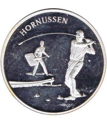 Medalla Costumbres Populares suizas. Hornussen.  - 1