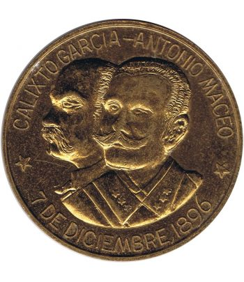 Medalla Centenario Calixto Garcia y Antonio Maceo.  - 1