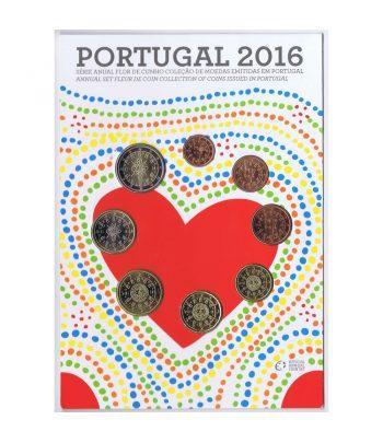 Portugal 2016 Serie Anual de euros. Flor de Cuño.  - 1