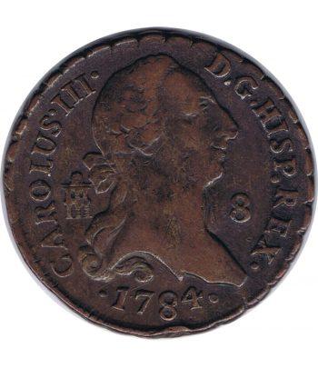 Moneda de España Carlos III 8 maravedis 1784  - 1
