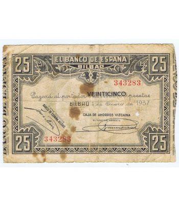 Billete de 25 Pesetas Bilbao 1 de enero de 1937 serie 343283  - 1