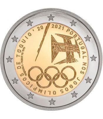 moneda 2 euros Portugal 2021 dedicada a Tokio 2020  - 1