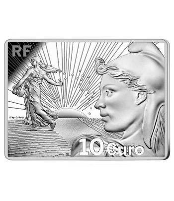 Moneda 10 euros de plata Francia año 2021 Sembradora  - 1