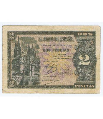 Billete de España 2 Pesetas Burgos 30 de abril de 1938 serie L1816530  - 1