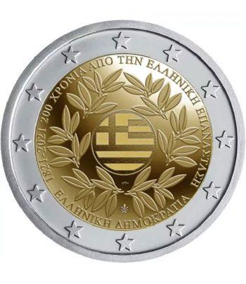moneda 2 euros Grecia 2021 dedicada a la Revolución griega.  - 1