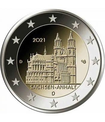 moneda 2 euros Alemania 2021 dedicada a Sachsen Anhalt.  - 1