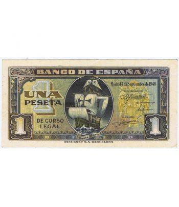 Billete de España 1 Peseta 4 de septiembre de 1940 serie C7627731  - 1