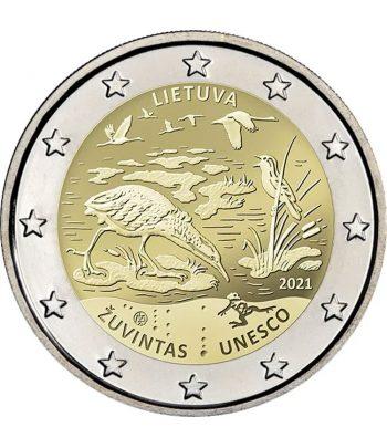 moneda 2 euros Lituania 2021 dedicada a la Reserva de la Biosfera de Žuvintas  - 1