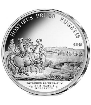 Moneda 10 euros de plata Francia año 2021 Llegada de Washington a Boston  - 1