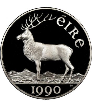 Moneda de 10 Ecus de plata de Irlanda año 1990  - 1
