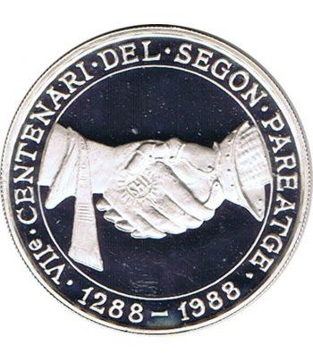Moneda 25 Diners de plata Andorra año 1988.  - 1