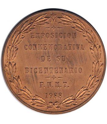 Medalla de cobre conmemorativa del Bicentenario de Carlos III.  - 2