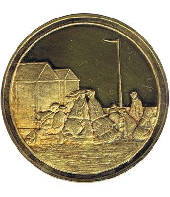 Medalla Centenaire de l' Impressionnisme Scène de plage, ciel d'orage  - 1