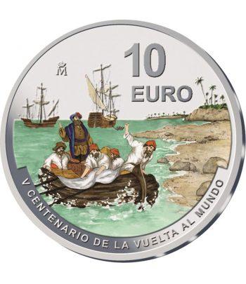 Moneda de España 10 euros año 2021 V Centenario de la Vuelta al Mundo.  - 1