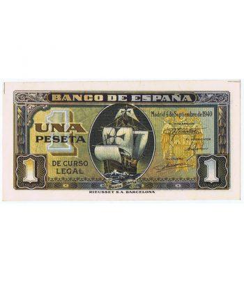 Billete de España 1 Peseta 4 de septiembre de 1940. SC.  - 1